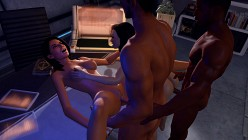 Ashley Williams, Miranda Lawson, Shepard and Jacob Taylor - Mass Effect