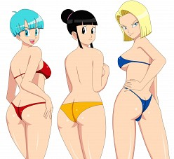 Bulma, Chi-chi and Android 18 - blackangel014 - Dragonball