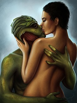 Thane Krios and Shepard - Mass Effect
